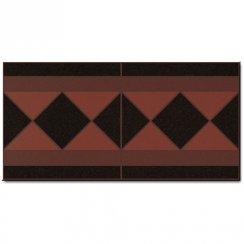 Octagon Terracotta Border Tile 15 8cm X 31 6cm