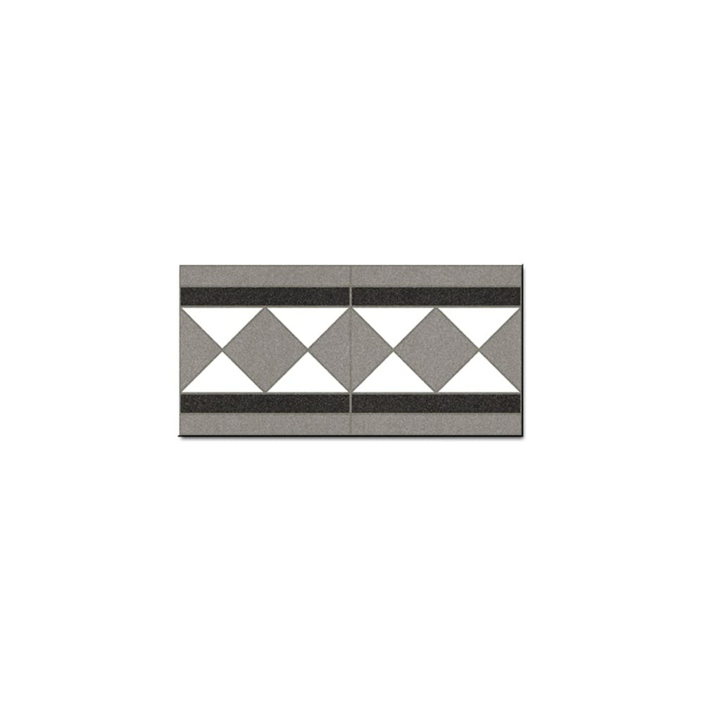 White Border Tile 15.8cm x 31.6cm