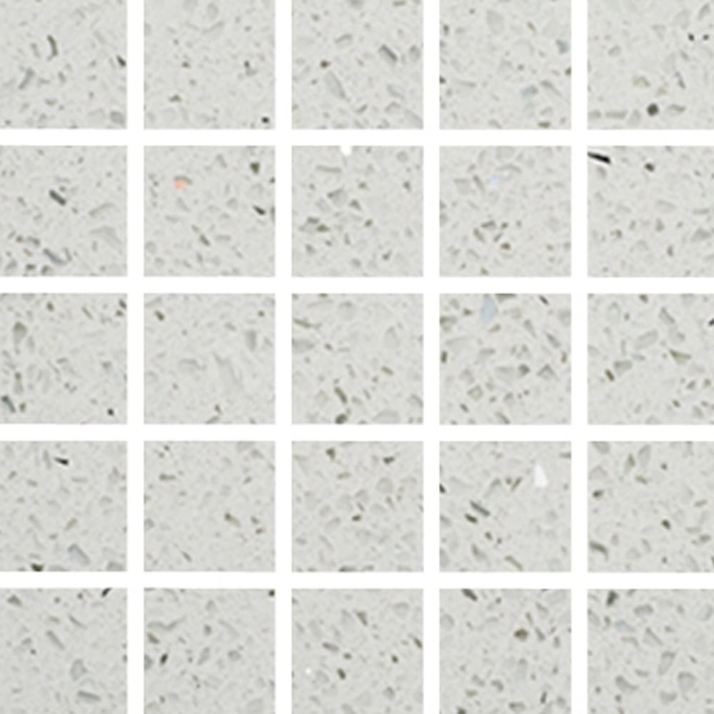 Pearl White Gulfstone Quartz Mosaic 4 8cm X 30cm Wall Tile