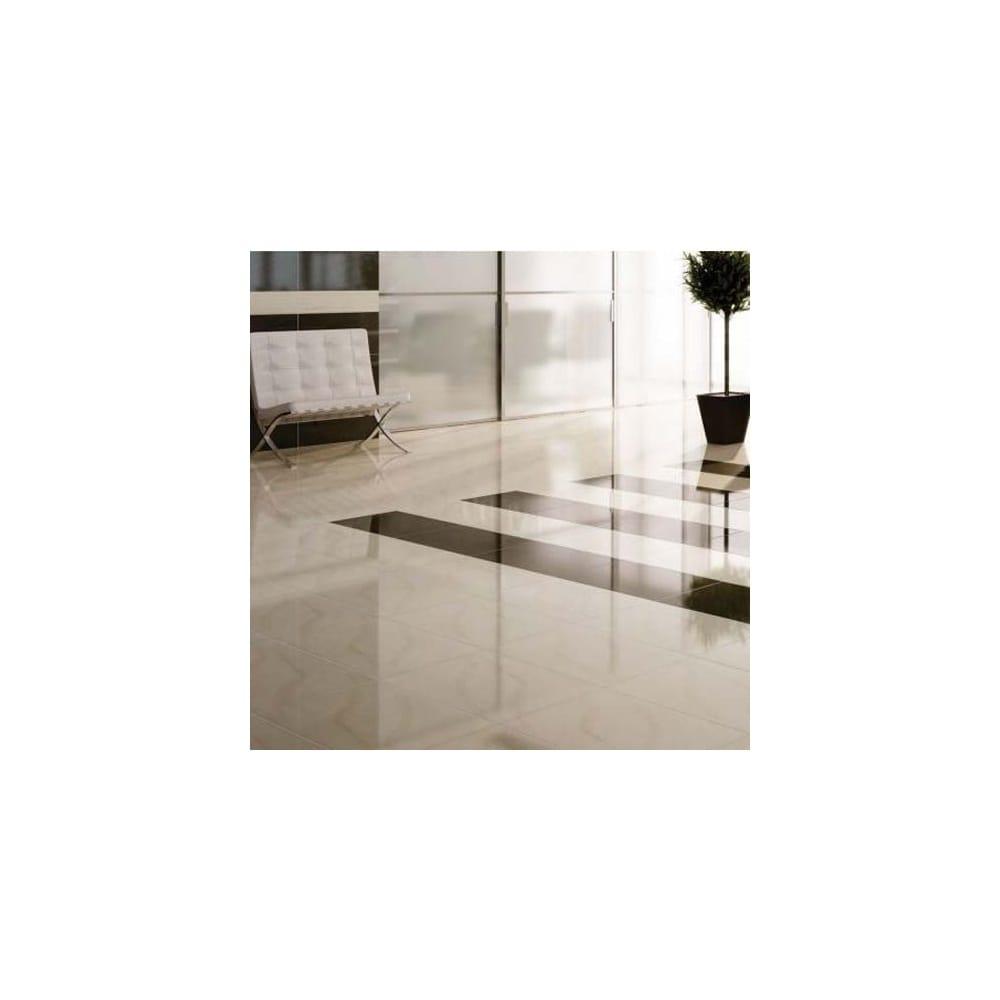 Polished Porcelain Bianco 60cm x 60cm Wall & Floor Tile