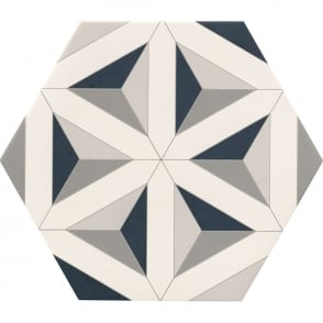 Contour Shadow Hexagon Tile 30cm x 28.5cm Floor Tile