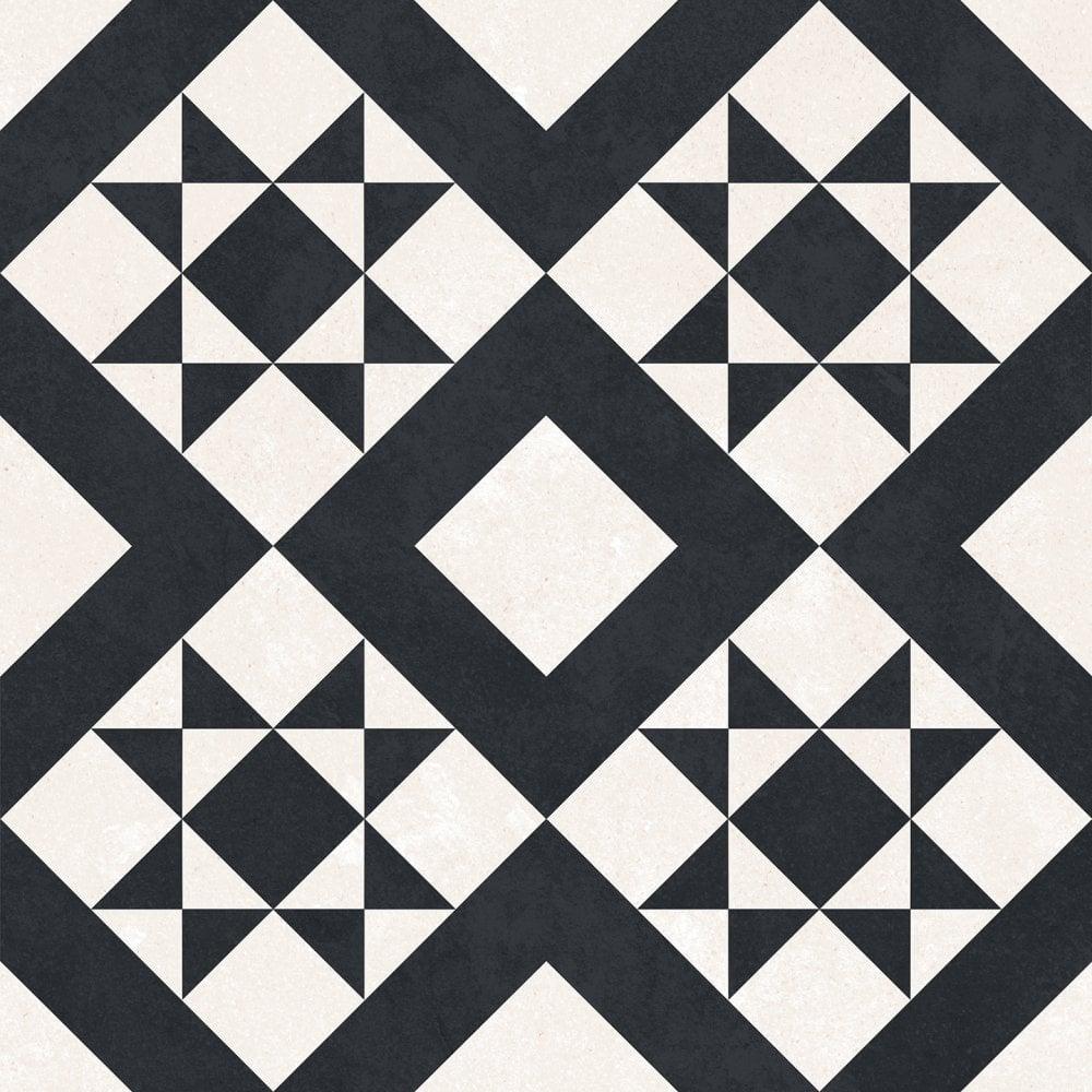 Retro Black Feature Floor 33cm X