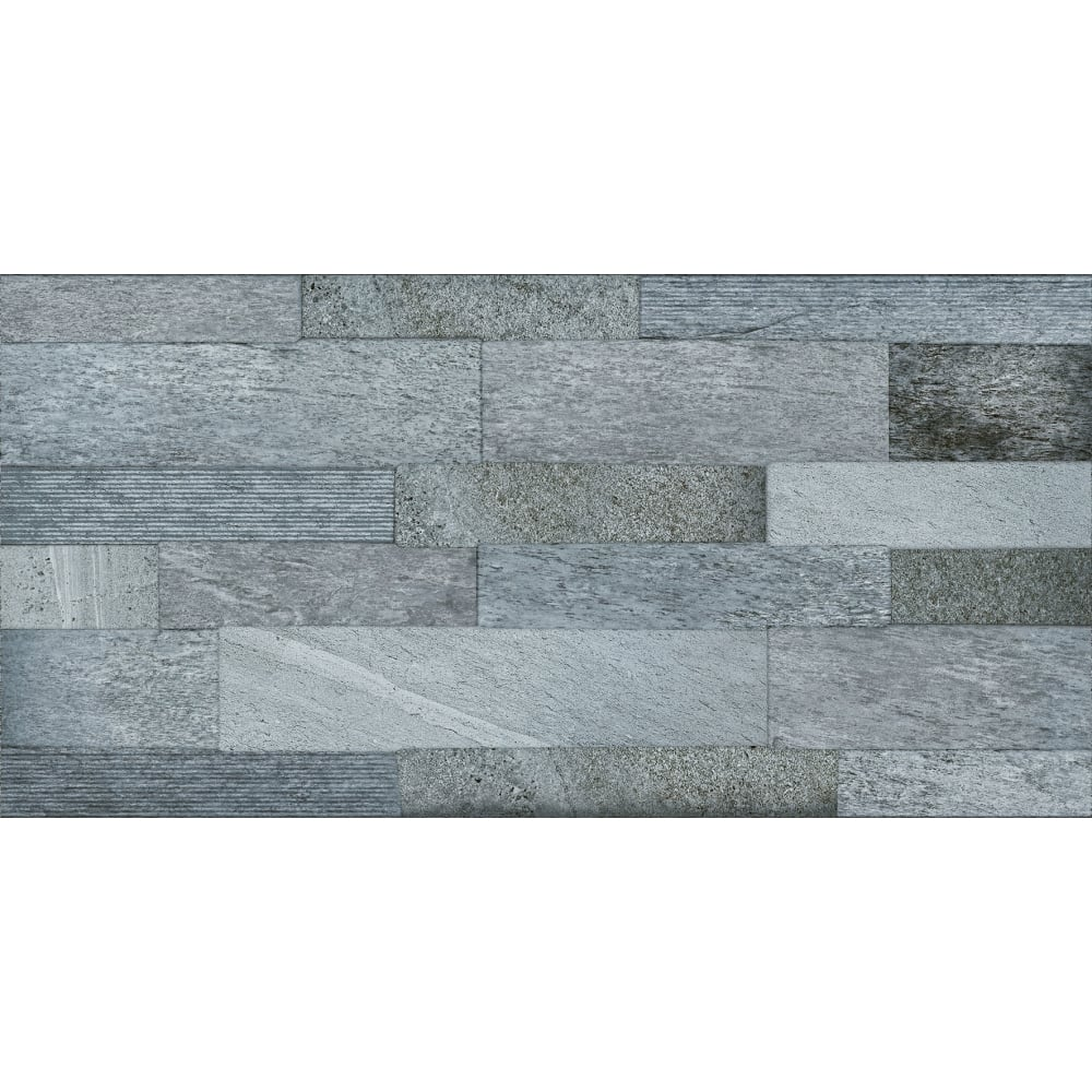 Senso Dark Grey 45cm x 90cm Wall & Floor Tile