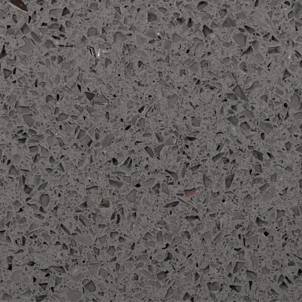Grey quartz floor tiles