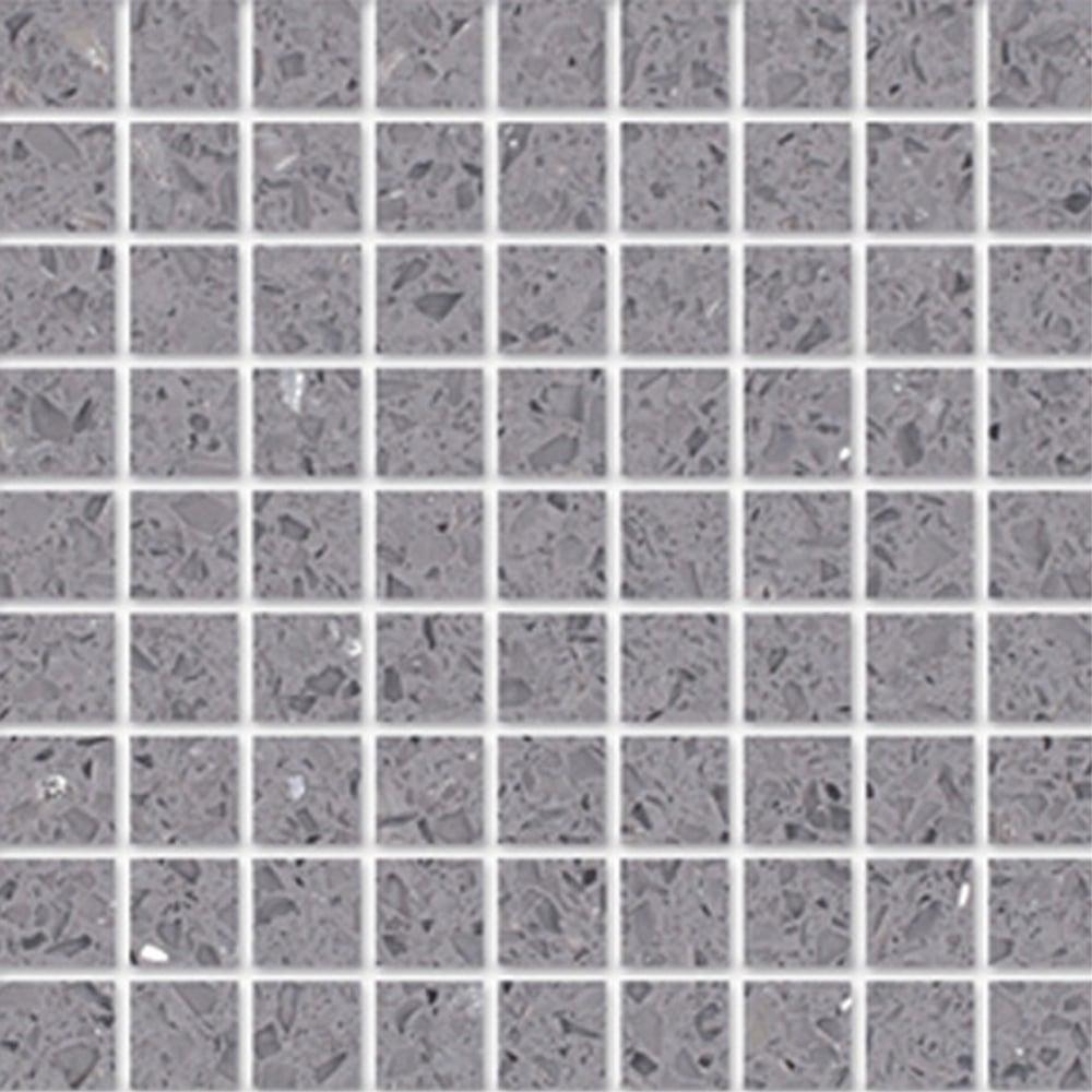 Silver Grey Gulfstone Quartz Mosaic 4 8cm X 30cm Wall Tile