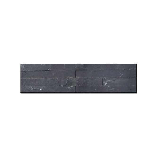 Split Face Black 10cm x 40cm Wall Tile