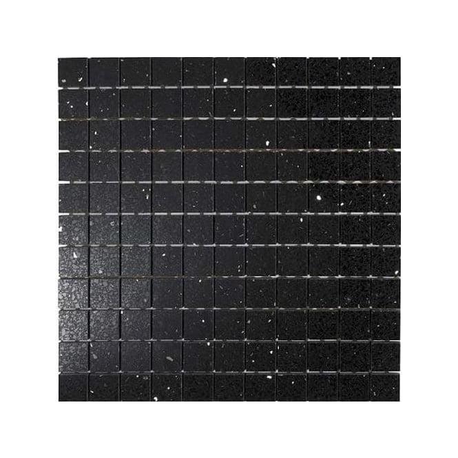 Stardust Black X 30cm X 30cm Mosaic Wall Tile