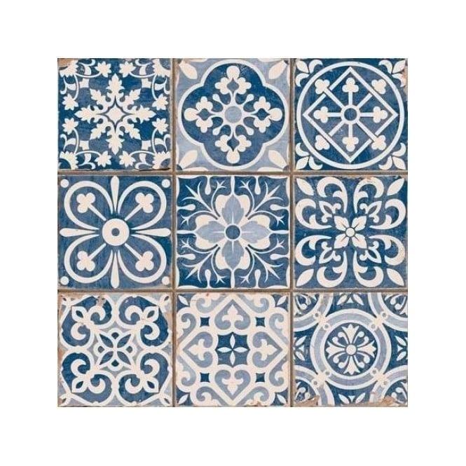 Tangier Blue Decor 33cm X 33cm Wall Amp Floor Tile