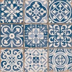 Tangier Blue Decor 33cm x 33cm Wall & Floor Tile