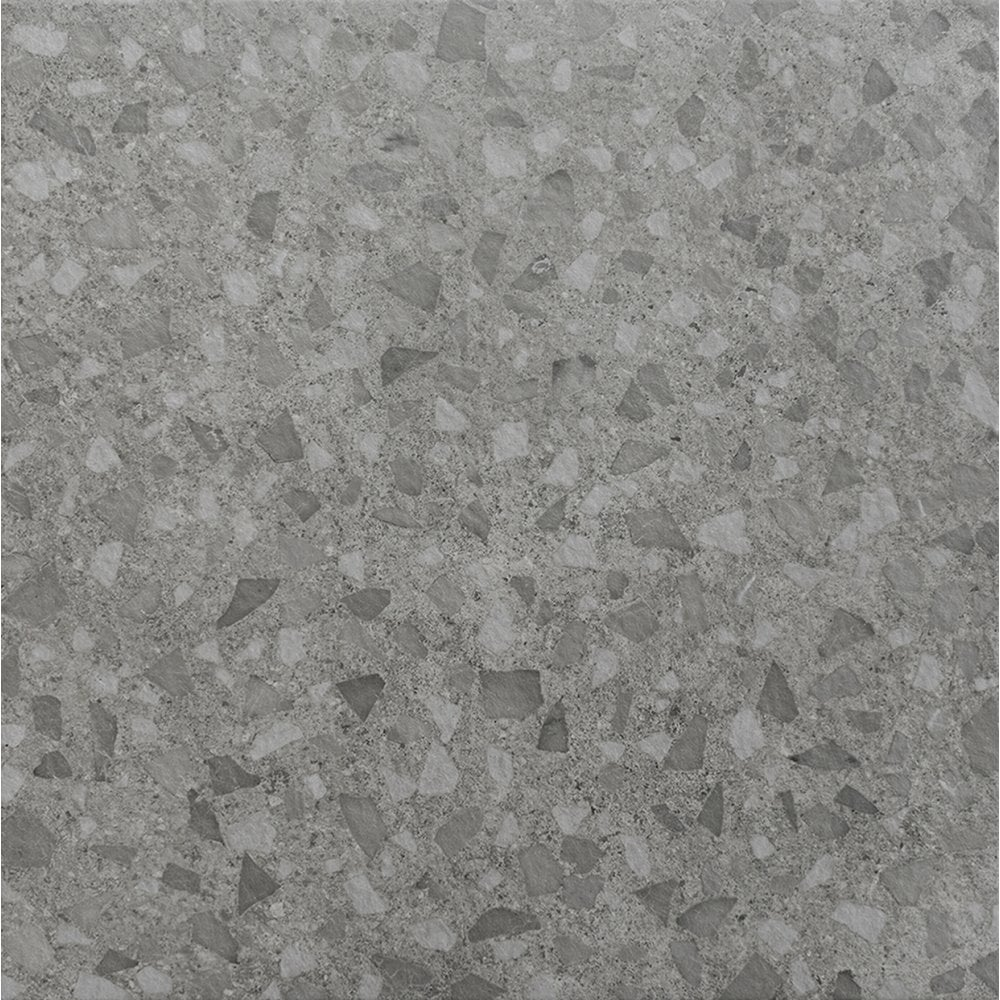 Terrazzo Grey Marble Effect Porcelain 45cm X 45cm Wall