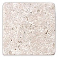 Tumbled Travertine 10cm x 10cm Wall & Floor Tile