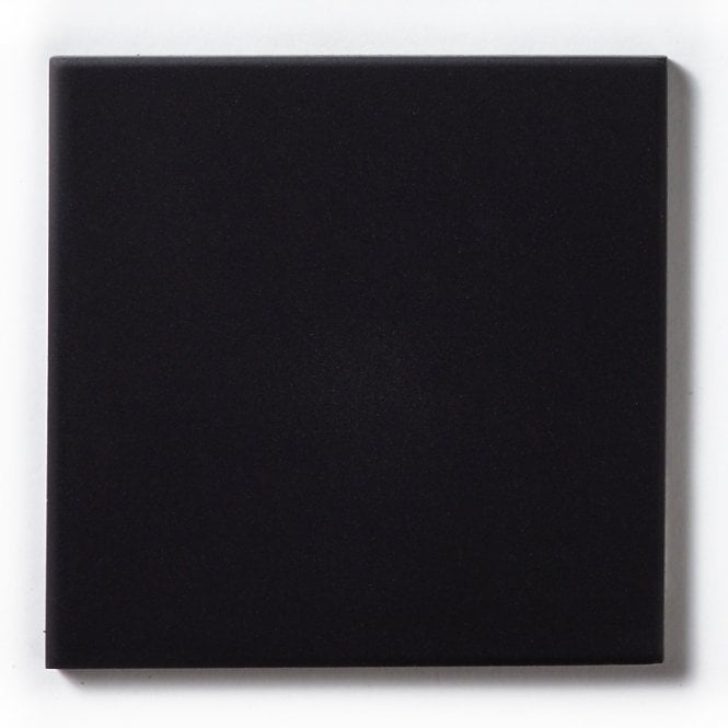 Unglazed Black Quarry 14 8cm X 14 8cm Floor Tile
