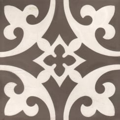 Vintage Firenze Dark Grey 20cm x 20cm Wall & Floor Tile