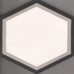Vintage Hexagon Grey 20cm x 20cm Wall & Floor Tile