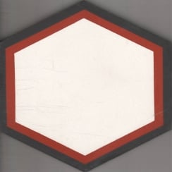 Vintage Hexagon Red 20cm x 20cm Wall & Floor Tile