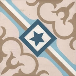 Vintage Starcrest 20cm x 20cm Wall & Floor Tile