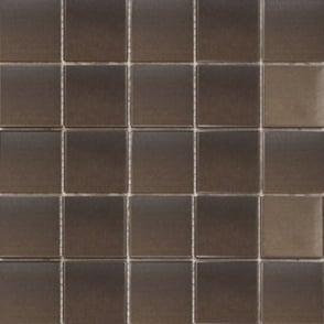 Yucca Matt Steel (4.8cm x 4.8cm) 30cm x 30cm Mosaic Tile